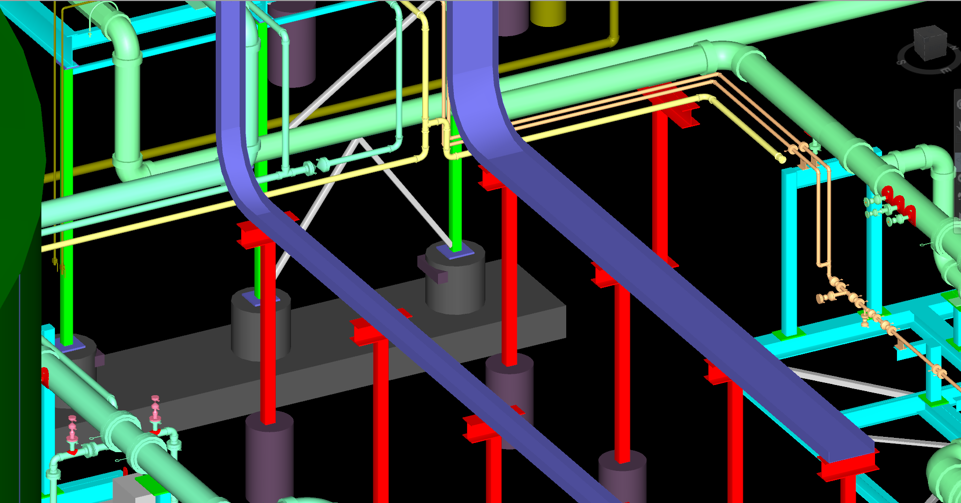 3D CAD Piping Supports